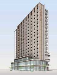 中電不動産が名古屋・栄地区で建設するホテルと商業店舗の複合施設(写真はイメージ)