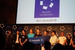 スタートアップ・カタパルトでは、名古屋大発のオプティマインドが優勝した(4日、京都市)