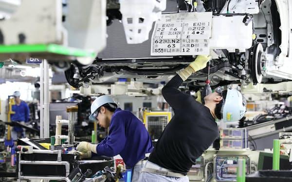 製造業は自動車や機械を中心に厳しい状況が続く