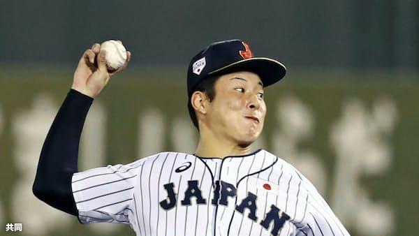日本敗れる、吉田が3失点 野球のU18アジア選手権