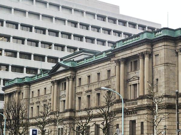 日銀は地銀の私募投信購入を警戒している(東京・日本橋本石町の日銀本店)