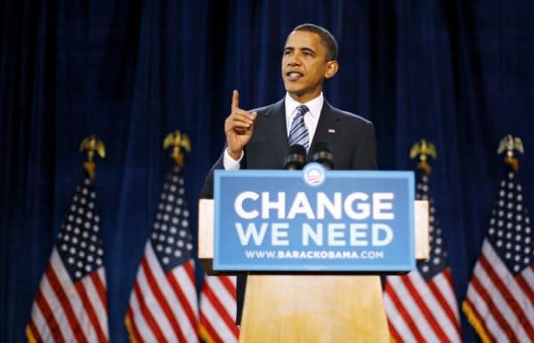 民主党大統領選候補のオバマ氏=ロイター