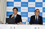 「将来、興行収入の1~2%の使用料額を実現できるように整備していきたい」と語るJASRACの江見浩一複製部長(6日、東京都港区)