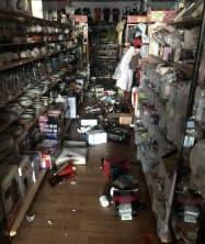 札幌市内のハードオフの店舗では食器類が破損した