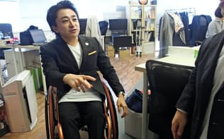 垣内俊哉社長(かきうち・としや) 1989年愛知県生まれ。2009年立命館大学経営学部在学中に前身となる団体を創業。10年にミライロを設立。29歳。