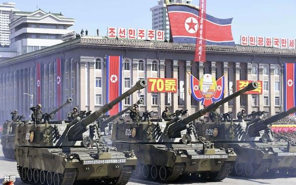 建国70年の軍事パレードでICBMは登場しなかったが=共同