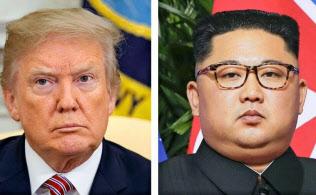 トランプ米大統領(左)、北朝鮮の金正恩朝鮮労働党委員長=いずれもAP