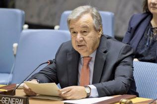 国連のグテレス事務総長=AP