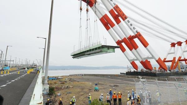 関空の高速道、復旧は19年GW前に