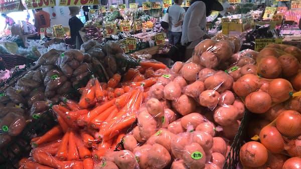 北海道産野菜、軒並み高く 地震・台風の影響続く