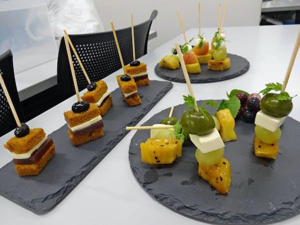 埼玉産食材を使った「和ピンチョス」など、バスクに売り込むスペイン料理を開発中だ