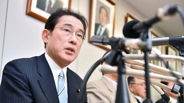 岸田氏、首相援護で賭け 自民総裁選 次にらむ
