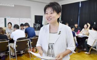 職員会議のやり方を変えた松浦加代子校長(滋賀県湖南市の菩提寺小学校)