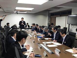 推進本部には全部局の部長らが参加し庁内横断で対応する(14日、高知県庁)