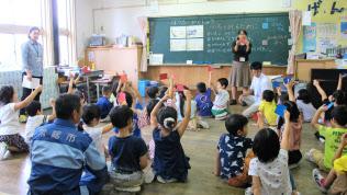 常総市では全小中学校で防災学習に取り組む(3日、同市)
