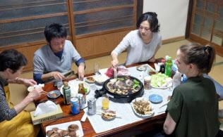 民泊は訪日客の約1割が利用している(徳島県内の農家民泊)
