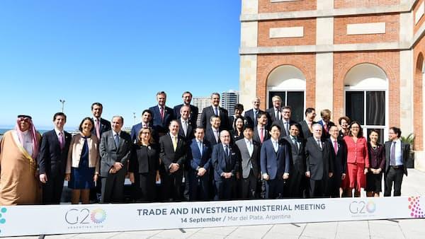 貿易戦争「議論が急務」 G20貿易相会合で声明