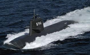 海上自衛隊の潜水艦「くろしお」(海自ホームページから)=共同