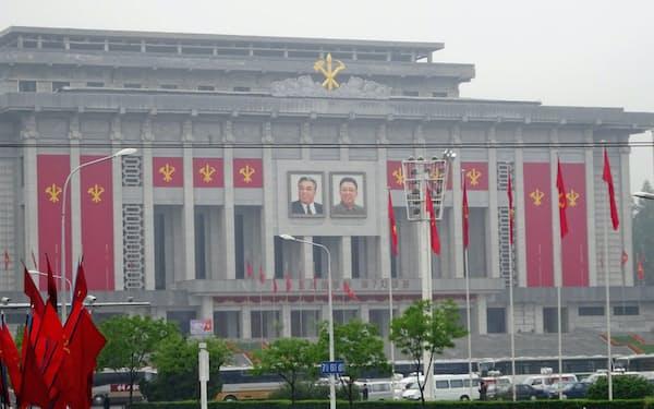 北朝鮮・平壌の中心部