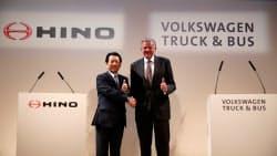 独フォルクスワーゲンと日野自動車は4月、包括提携に向け協議に入ることで合意していた=ロイター