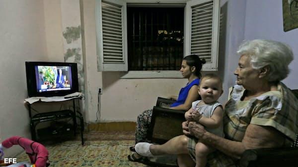キューバ新議長、米との対話「平等な立場で」