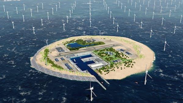北海に送電の島構想 周辺6カ国で電力安定化