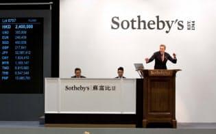 サザビーズ香港でのワイン・ウイスキーのオークション=サザビーズ提供、(C)Sotheby's