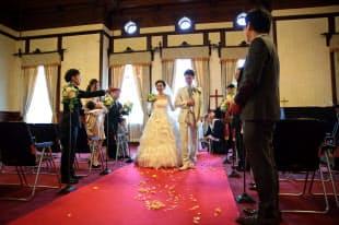 京都府庁旧本館はロケだけでなく、結婚式にも利用されている=マリッジプランナー(大阪市)提供