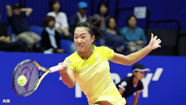 奈良は元世界1位に敗れる 東レ女子テニス