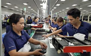 計算機などを受託生産する新金宝グループのフィリピン工場(バタンガス州)