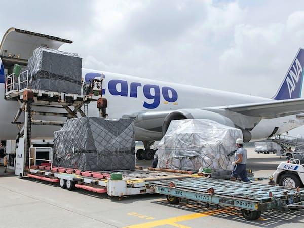 成田空港を中心に航空貨物の混雑が続く