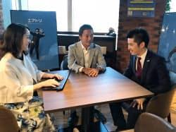 吉村社長(中央)はIPOで事業のスピード感が上がったと話す