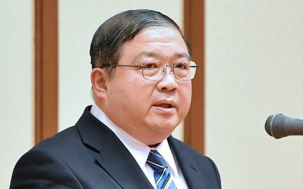 文科省事務次官の戸谷一夫氏(2017年1月)