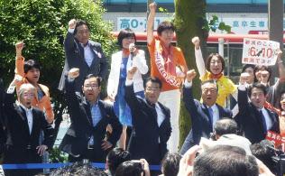 6月の新潟知事選では野党統一候補が実現した(新潟市)