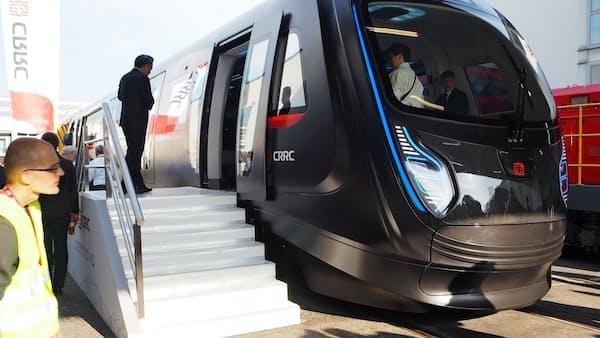 中国中車はカーボン製の地下鉄車両、世界最大の鉄道展示会