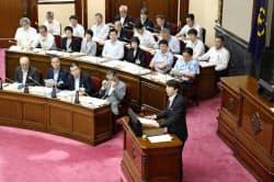 名古屋城木造復元を議論する名古屋市議会の本会議(21日)