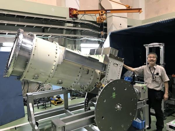 原始重力波の痕跡を探るポーラーベア2(茨城県つくば市の高エネルギー加速器研究機構)