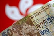 21日に香港ドルは急伸した=ロイター