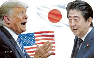 トランプ米大統領(左=ロイター)と安倍首相