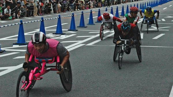 障害者らが駅伝 大分でスポーツイベント