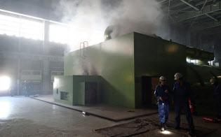 苫東厚真発電所の停止が大規模停電を引き起こした(北海道電力提供)