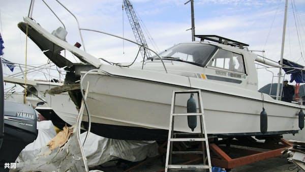 ボート衝突、6人けが3人重傷 広島・尾道