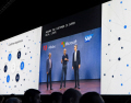 アドビ、マイクロソフト、SAPのCEOがそろって提携を発表した(24日、フロリダ州オーランド)
