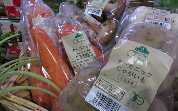 オーガニックの野菜や果物の取扱店舗を増やしていく