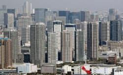 中古マンション価格の年収に対する倍率は東京都が最も高かった(都内のマンション群)