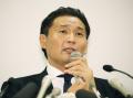 日本相撲協会に退職届を提出し、記者会見する貴乃花親方(25日午後)