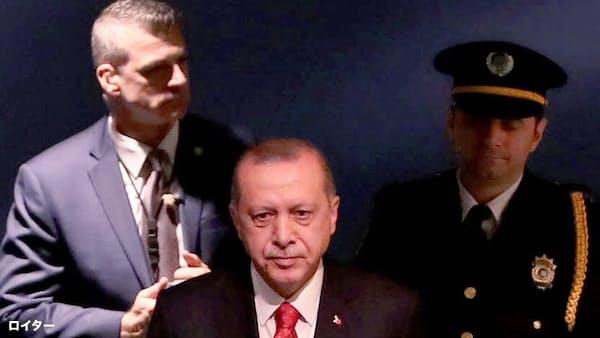 米・トルコ大統領が接触、国連総会の議場裏で鉢合わせ