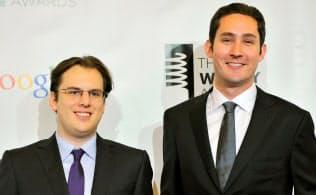 インスタグラム共同創業者のケビン・シストロム氏(右)とマイク・クリーガー氏がフェイスブックで6年も続いたことのほうが驚きだ=ロイター
