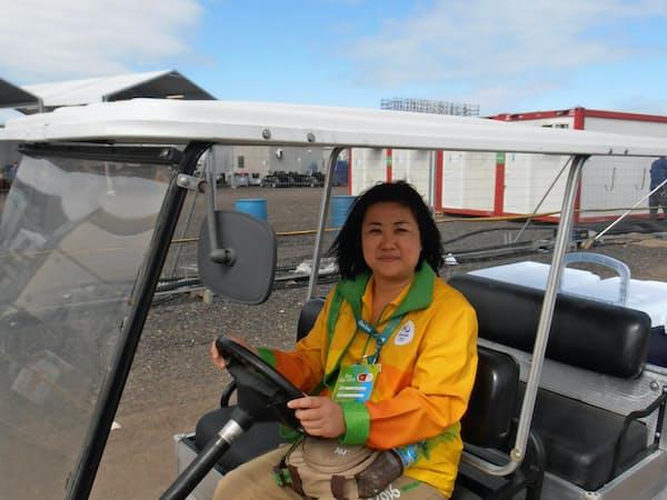 2016年リオデジャネイロ五輪でボランティアに参加した関根育美さん