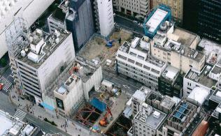 リーマン・ショック直後には銀座1丁目にも空き地が発生した(東京都中央区)